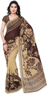Kashvi Sarees Printed Fashion Synthetic Georgette Saree(Multicolor) at flipkart
