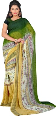 Aayna Printed Fashion Synthetic Fabric Sari