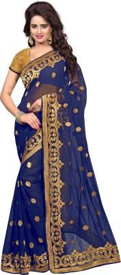 PAHAL FASHION Embriodered, Self Design Fashion Georgette Sari