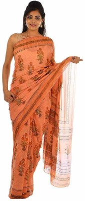 Geroo Floral Print Fashion Pure Georgette Sari