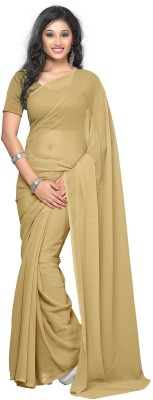 Laxmi Fashion Design Solid Bollywood Handloom Chiffon Sari