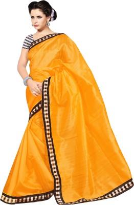 Simran Fashion Plain Bollywood Handloom Art Silk Sari