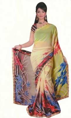 Agarwal Fashions Floral Print Daily Wear Chiffon Sari