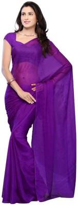 PAHAL FASHION Plain Fashion Chiffon Sari