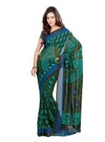 Vardan Prints Printed Bollywood Georgette Sari(Green)
