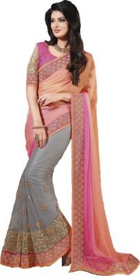 Nayra Fashion Embriodered Fashion Net, Georgette Sari