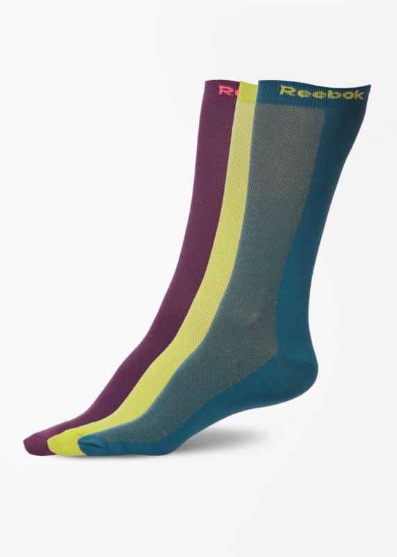 Reebok Women's Solid Crew Length Socks