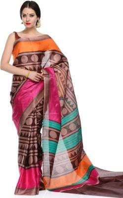 Antrapali Printed Banarasi Cotton Lycra Blend Sari