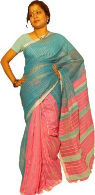 KheyaliBoutique Self Design Phulia Handloom Silk Linen Blend Sari