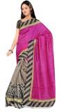Varibha Solid Fashion Silk Saree (Pink)