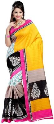 MatindraEnterprise Printed Fashion Handloom Dupion Silk Sari