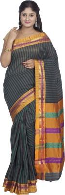 Kunal Striped Fashion Cotton, Silk Sari