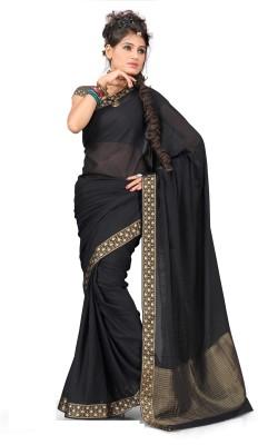 Ankisha Solid Fashion Chiffon Sari