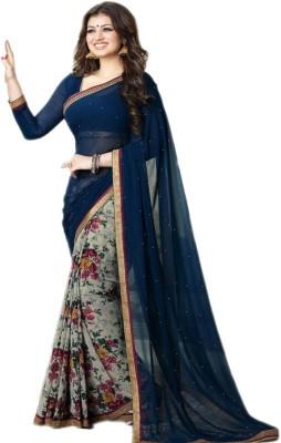 Sudha Emporium Floral Print Fashion Pure Georgette Sari