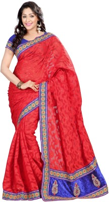 Sanskar Fashion Self Design Bollywood Jacquard Sari