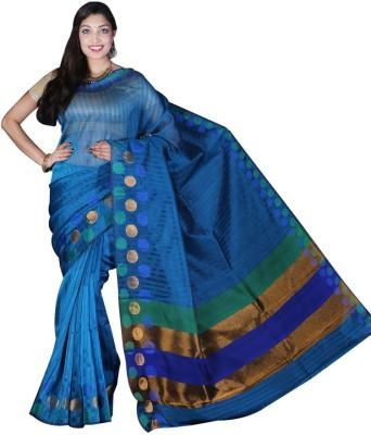 Glamorous Lady Striped Banarasi Banarasi Silk Sari