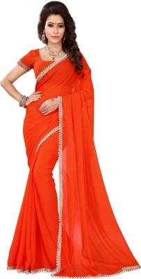 Chandra Silk Mills Solid Fashion Chiffon Sari