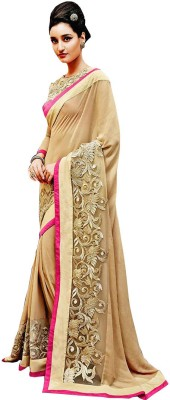 Nairiti Fashions Embriodered Fashion Chiffon Sari