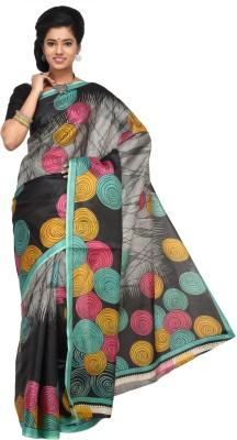 Keya Sarees Graphic Print Ikkat Art Silk Sari