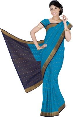Srinidhi Silks Self Design Mysore Georgette Sari