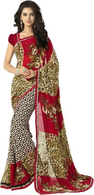 Jhon Diego Floral Print Daily Wear Georgette Sari