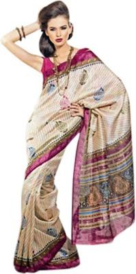 Fashion Studio Printed Daily Wear Banarasi Silk Sari