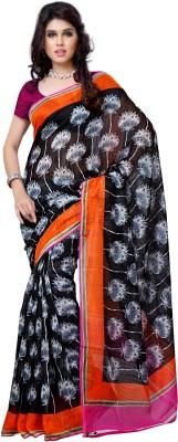 JTInternational Printed Chanderi Handloom Art Silk Sari