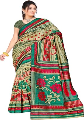 F3 Apparels Printed Fashion Art Silk Sari