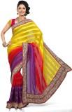 De Marca Striped Fashion Satin Saree (Mu...