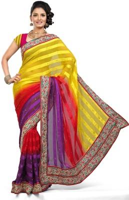De Marca Striped Fashion Satin Sari