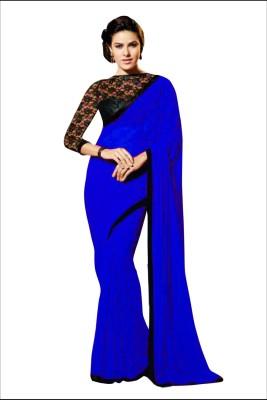 Reya Solid Fashion Georgette Sari