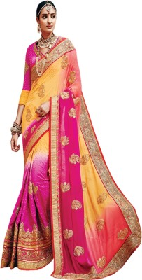 Go Traditional Embriodered Fashion Georgette Sari