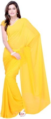 Filmy Fashions Plain Fashion Georgette Sari