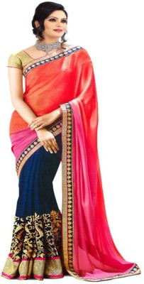 Go4fashion Embriodered Bollywood Georgette Sari