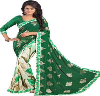 Newlook impex Printed Fashion Georgette Sari