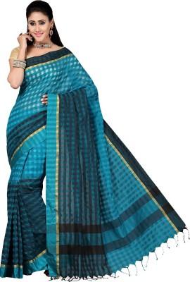 Rani Saahiba Checkered Banarasi Art Silk Sari