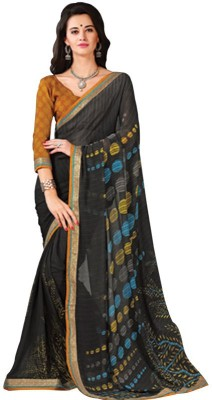 Tulaasi Plain Fashion Printed Silk Sari