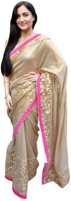 Rajesh Silk Mills Solid Fashion Satin, Chiffon Sari