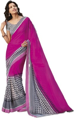 NCS Geometric Print Daily Wear Georgette Sari