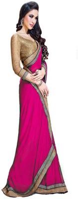 Kanishk Textile Embriodered Fashion Chiffon Sari