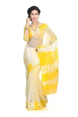 Crochetin Woven Jamdani Handloom Silk Sari