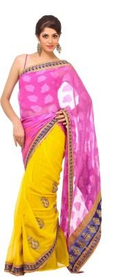 365 Labels Self Design Chanderi Georgette Sari