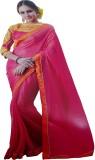 Sara By Me Solid Fashion Chiffon Saree (...
