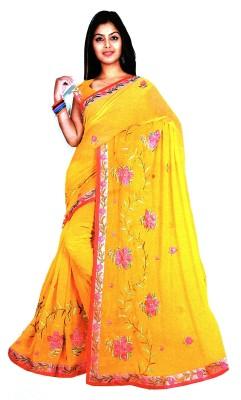 Sandhiya Embriodered Chanderi Georgette Sari