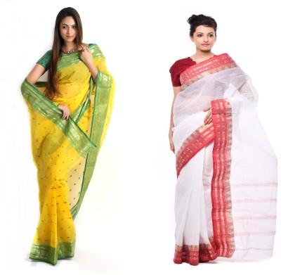 Brishti Creations Woven Fashion Handloom Cotton Sari