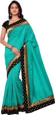 Sarvagny Clothing Solid Bhagalpuri Art Silk Sari