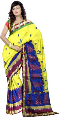 Banarasi Babu Creation Embriodered Banarasi Silk Cotton Blend Sari