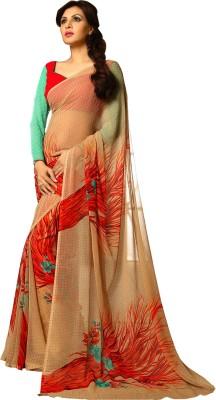 V-Style4u Printed Daily Wear Chiffon Sari