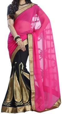 Shaurya Trendz Embriodered Fashion Georgette Sari