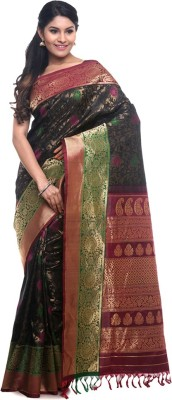 BlackBeauty Woven Gadwal Handloom Pure Silk Saree(Black, Multicolor) at flipkart